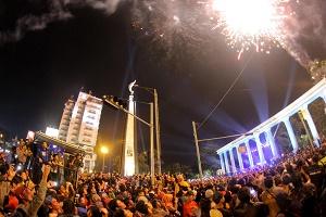 Malam tahun baru di Tugu Kujang