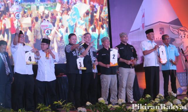 Pengundian nomor Urut Calon Walikota Bogor