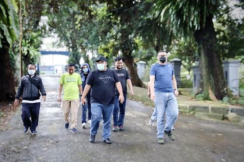 Direksi Tirta Pakuan Telusuri Jalur Pipa IPA Cipaku – Pompa Intan Pakuan