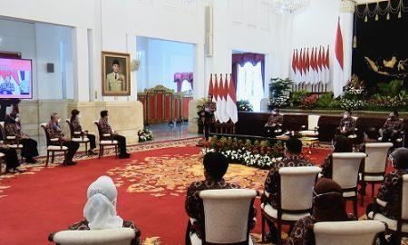 Presiden Jokowi membuka Munas V APKASI Tahun 2021, di Istana Negara, Jumat (26/03/2021) pagi. (Foto: Humas Setkab/Agung)