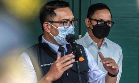Gubernur Jawa Barat Ridwan Kamil menggelar rapat evaluasi pemberlakuan PPKM Mikro di wilayah Bogor, Depok, Bekasi (bodebek). Bertempat di markas Kodam Jaya, Jakarta, Kamis (4/3/2021)