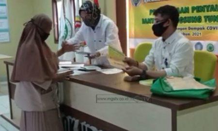 156 warga Desa Pondok Udik menerima bantuan langsung tunai (BLT) dari anggaran Dana Desa (DD) tahun 2021.