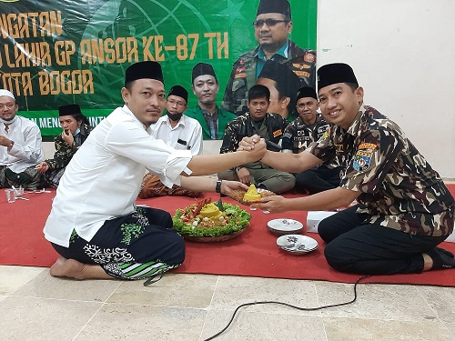 Keterangan foto : kegiatan silaturahmi GM FKPPI dengan GP Ansor Kota Bogor