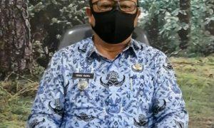 Camat Rancabungur Ishaq Mairu SH, MM yang juga sekaligus Ketua Satgas Penanganan Covid 19 Kecamatan Rancabungur.
