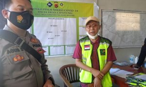 Ketua Satgas Covid-19 Desa Cipayung, Cacu Budiawan