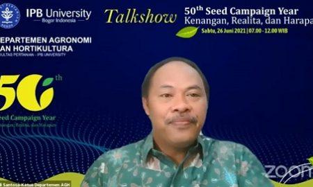 Ketua Departemen Agronomi dan Hortikultura IPB University, Prof Edi Santosa