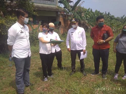 penyerahan lokasi lahan yang akan dibangun RSUD Parung di Desa Cogreg.