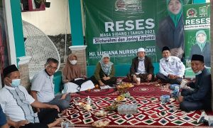 Keterangan foto : Anggta DPRD Kota Bogor dari PKB melakukan reses dimasa dang ke-1 tahun 2021
